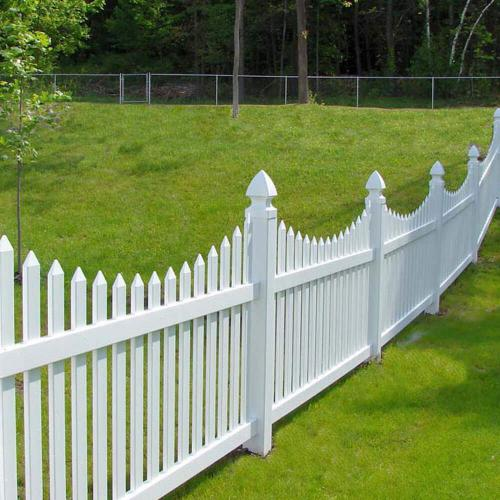 PVC Picket Fencing Curve Top