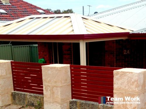Red EZI Slat Fence in Perth home