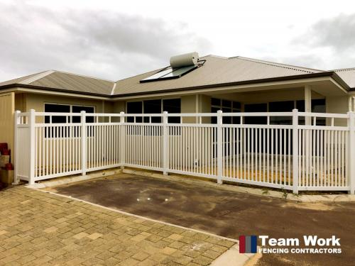 Wembley Style White PVC Picket Fencing Perth
