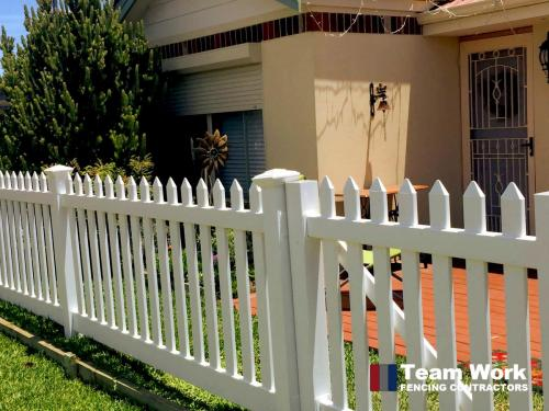White PVC Faux Wood Fencing Perth WA