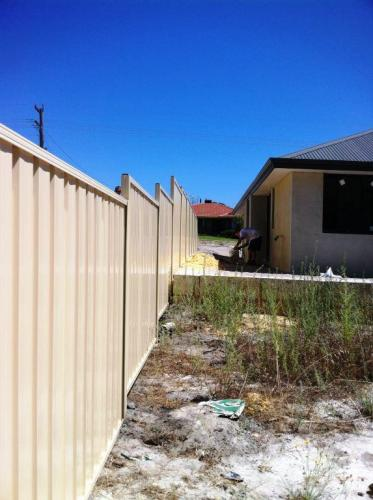 Colorbond Fencing Off White