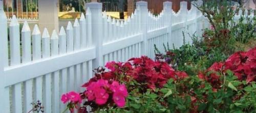 Custom White PVC Fence