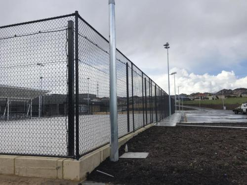 Black Chainmesh Fencing Volley Ball Court