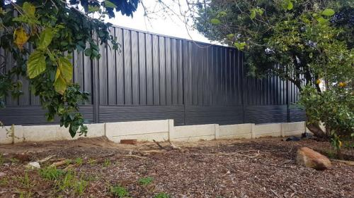 Colorbond Fencing and Concrete Post  Panel