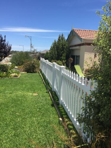 Domestic PVC Fencing White Perth